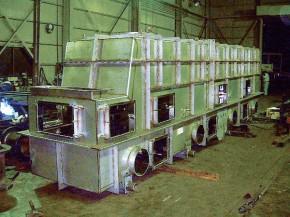 冷却乾燥振動コンベア